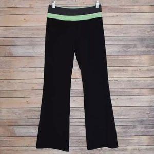 Lululemon Black Green Waistband Bootcut Flare Pant